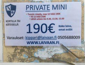 Tilausristeily, sightseeimg, private mini, Näsijärvi, Tampere, MS Nottbeck